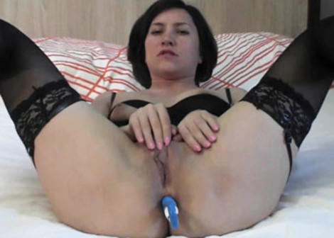 Inga's nailing her mature ass with a dildo