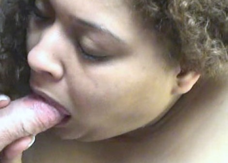 Latina plumper Nikki sucking dick
